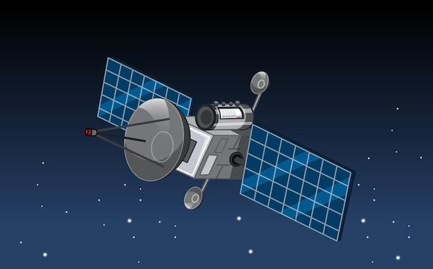 Um satélite no espaço sideral
