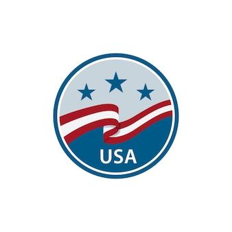 Um símbolo simples e exclusivo para a ilustração vetorial da américa