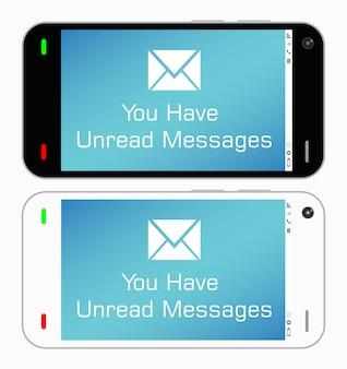 Um smartphone com mensagens não lidas