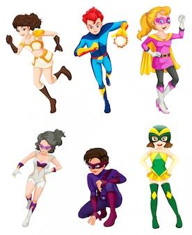 Um super-herói masculino e feminino