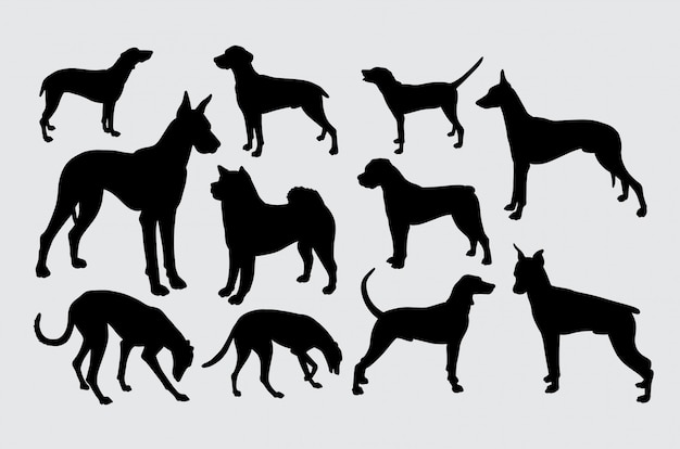 Um tipo de silhueta de animais de estimação de cães