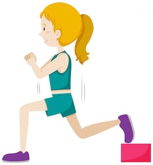 Um treinamento de peso menina