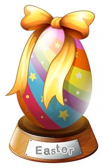 Um troféu de ovo de páscoa