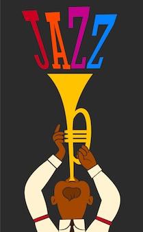 Um trompetista de jazz