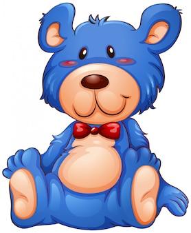 Um urso de pelúcia azul