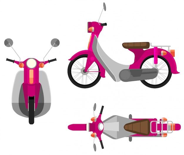 Um veículo a motor rosa