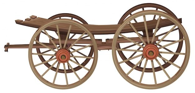 Um velho vagão de madeira