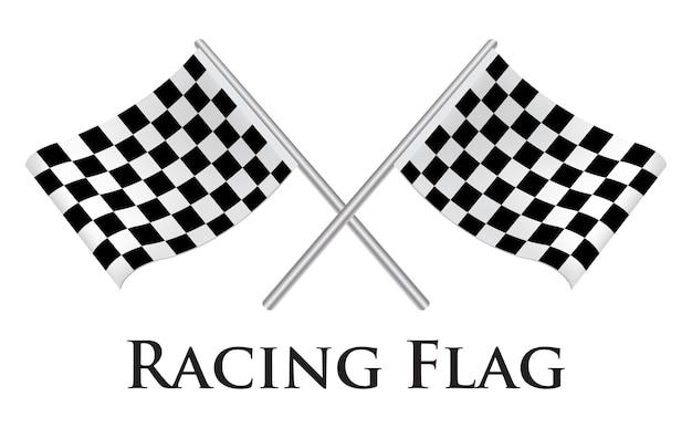 Um vetor de bandeira de corrida