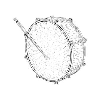 Um vetor de ilustração de tambor musical