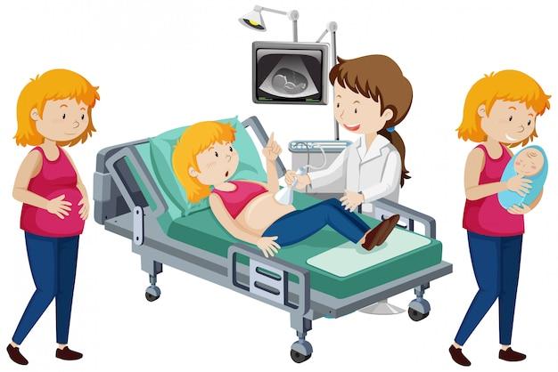Um vetor de progressão grávida