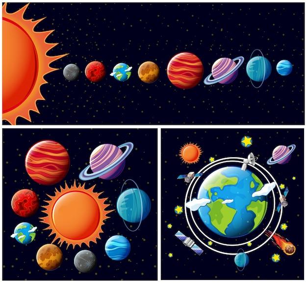 Um vetor do sistema solar