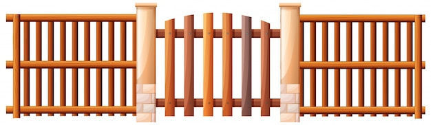 Uma barricada de madeira