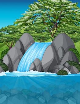 Uma bela cachoeira paisagem