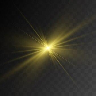 Uma bela luz branca explode com uma explosão transparente. , ilustração brilhante para um efeito perfeito com brilhos. estrela brilhante. brilho transparente do gradiente de brilho, flash brilhante.
