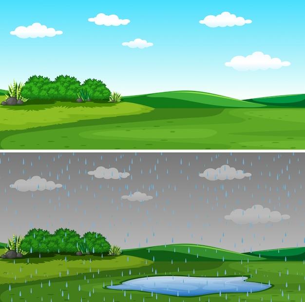 Uma bela paisagem natural