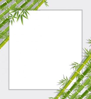 Uma borda de bambu verde