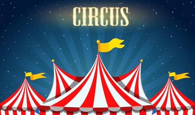 Uma borda de circo em branco