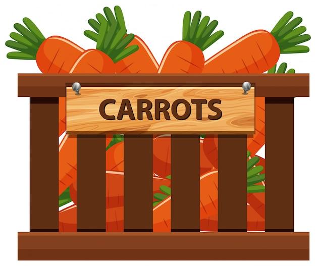 Uma caixa de cenoura