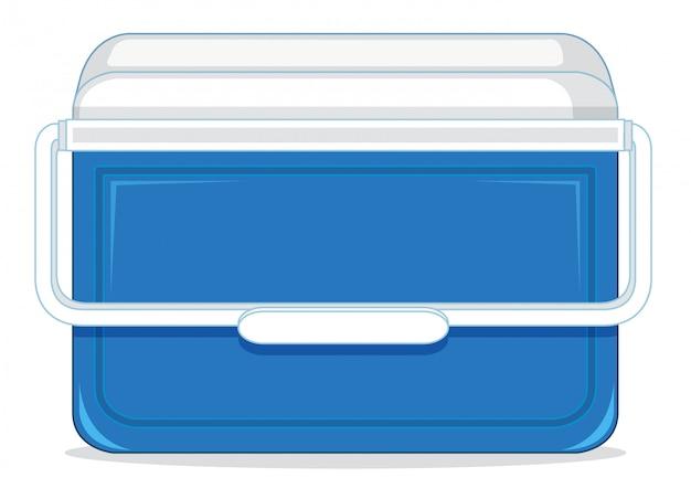 Uma caixa de recipiente de gelo