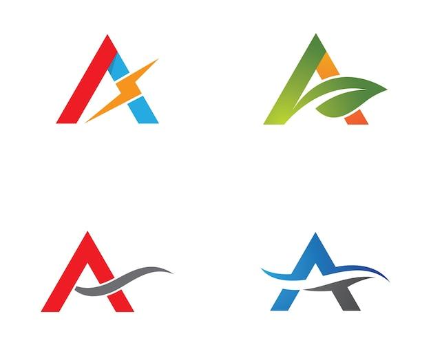 Uma carta logo vector icon ilustração design