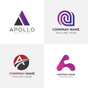 Uma carta modelo de logotipo | carta logo | design de logotipos
