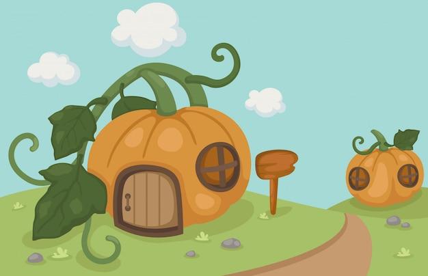 Uma casa de abóbora