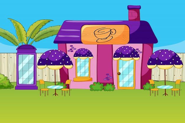 Uma casa de café