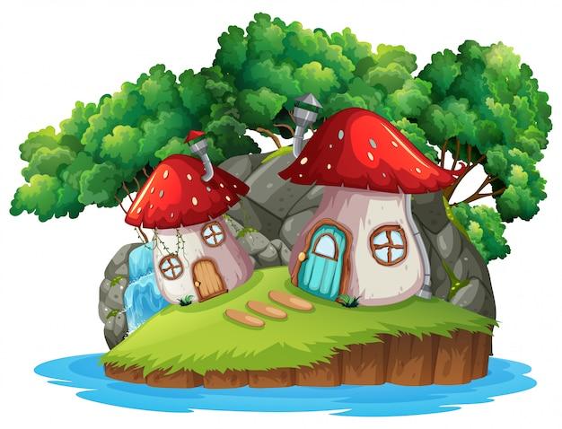 Uma casa de cogumelos mágicos