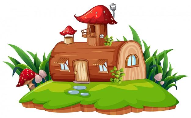 Uma casa de fantasia isolada