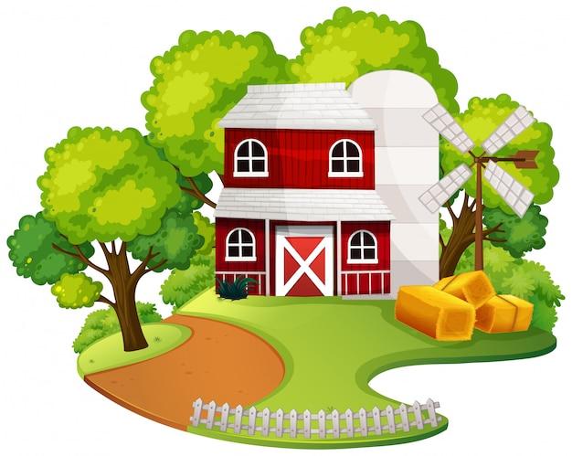 Uma casa de fazenda isolada