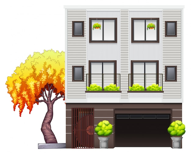 Uma casa moderna