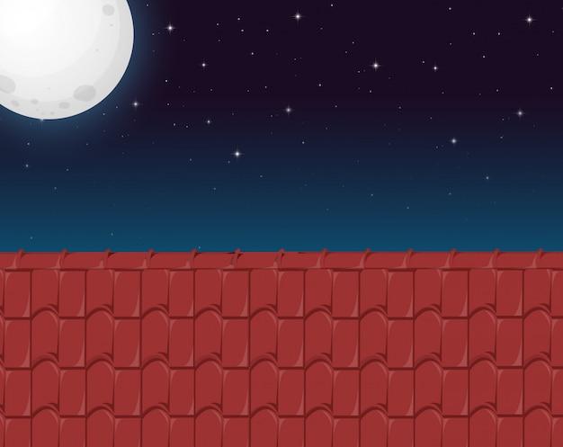 Uma casa telhado vista