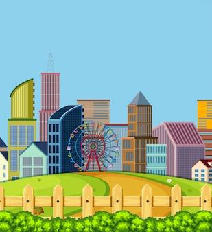 Uma cena da cidade urbana