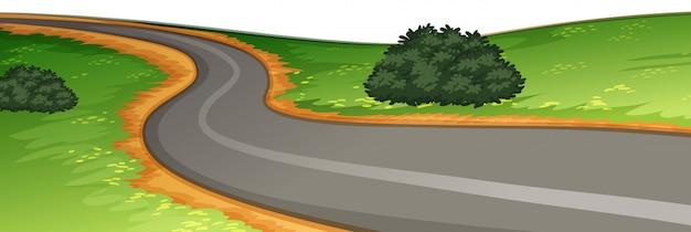 Uma cena de estrada rural