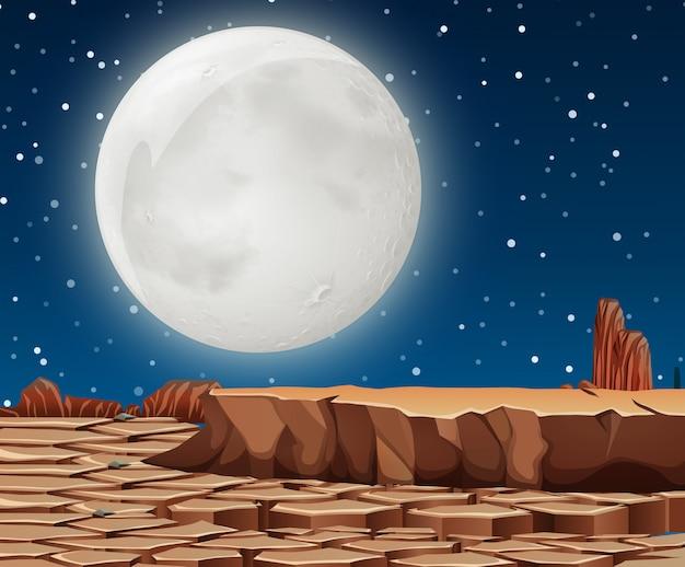 Uma cena de terra seca