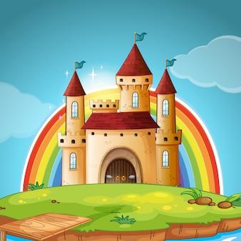 Uma cena do castelo medieval