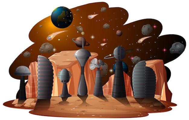 Uma cena espacial