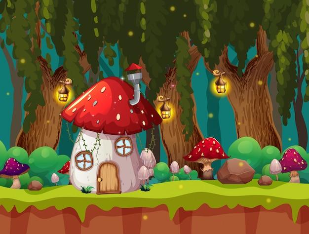 Uma cena mágica de fantasia