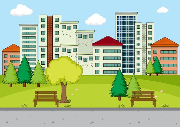 Uma cena simples de parque