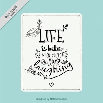 Uma citação agradável para inspirar