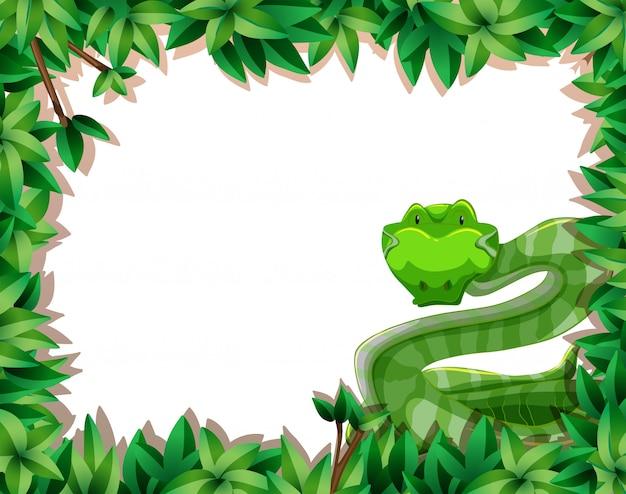 Uma cobra no quadro da natureza