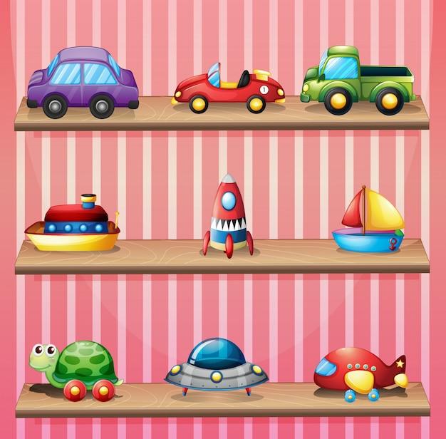 Uma coleção de brinquedos