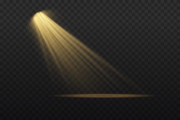 Uma coleção de luzes de palco. cena. efeitos de luz. iluminação brilhante com holofotes.
