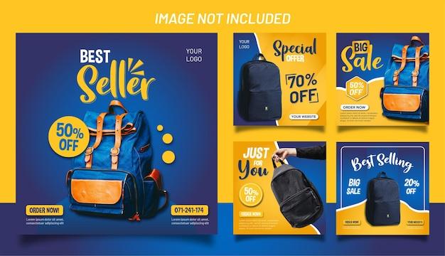 Uma coleção de modelos de postagem para vendas de bolsas