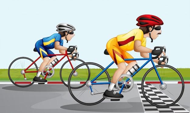 Uma corrida de bicicleta
