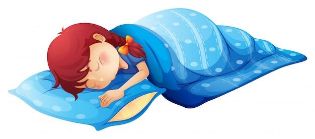 Uma criança dormindo