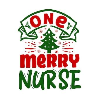 Uma enfermeira alegre cita a ilustração premium vector design
