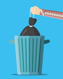 Uma enorme lata de lixo.