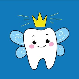 Uma fada fada dos dentes.