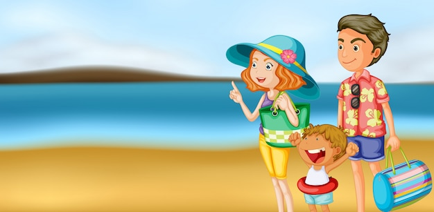 Uma família em férias